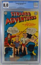 Strange Adventures #15 CGC 8.0 1951 White Pages