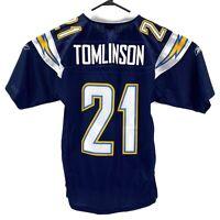 NFL San Diego Chargers LaDainian Tomlinson #21 Blue Stitched Reebok Jersey Sz S