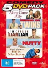 ALONG CAME POLLY/TWINS/LIAR LIAR/NUTTY PROFESSOR/BILLY MADISON 5DVD NEW