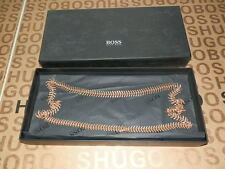 NEW HUGO BOSS LADIES WOMANS BRAND DESIGNER ROSE GOLD BRASS BAG RING NECKLACE