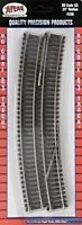 """Atlas #536  24"""" Radius Curved Track (6-pack) HO Scale Code 83 Rails"""