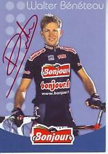 CYCLISME carte cycliste WALTER BENETEAU équipe BONJOUR 1996 signée