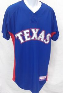 Texas Rangers Baseball Cool Base Blank Jersey Blue