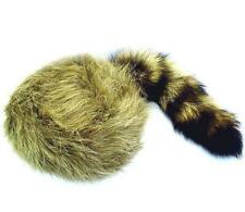 2 KIDS SIZE RACCOON TAIL HATS real coon tails novelty childrens cap boy girl fur