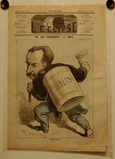 Caricature,Journal l'éclipse, M. de Choiseul, Gill , 3 août 1873