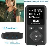 Portable Pocket DAB Bluetooth Digital Radio FM Radio Speakers MP3 Player Black