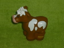 Fisher Price Little People Brown Farm Cow with Spots Pink Nose