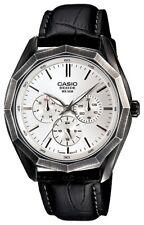 Casio Beside BEM-310BL-7A New Mens Watch Analog Leather Band BEM-310BL BEM-310