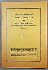 CHARLOTTE CO. VA Clement Thomas Read Bushy Forest Homes Ingleside History APVA