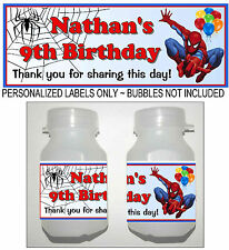 30 SPIDERMAN BIRTHDAY PARTY FAVORS BUBBLE LABELS