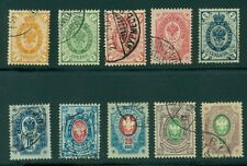 Finland #46-55 (35-44) Complete set of lower values, used, Vf, Scott $204.25