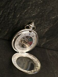 ARGO Skeleton  Automatic Pocket Watch Good Working Order