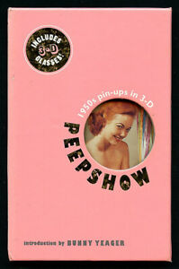 PEEPSHOW 1950s Pin-Ups In Stereo COLOR Nudes 2001 Book VASTA Archive Collection