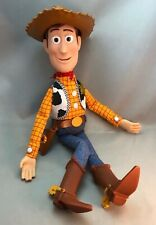 """Disney 15"""" Talking Woody Pull String Doll Toy Story & Hat Works! Non-smoker"""