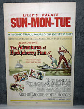 THE ADVENTURES OF HUCKLEBERRY FINN 1960 movie poster EDDIE HODGES/ARCHIE MOORE
