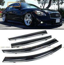 VIP CLIP-ON TYPE WINDOW VISOR W/ CHROME TRIM FOR 11-15 INFINITI M35h M37 Q70 M56