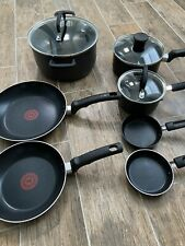 T-fal E765sc Ultimate Hard Anodized Cookware Set 10-piece Gray