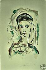 ERNESTO TRECCANI litografia VOLTO  50x35 firmata numerata 125 es