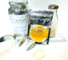 Kombuchyaa Kombucha Starter Kit With Scoby Starter Tea Instructions & Bottle