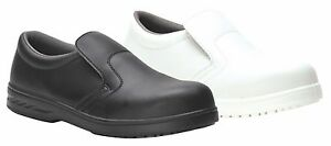 Safety Shoes Slip on Slip Resistant Padded collar kitchen catering Steelite FW81