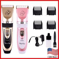 Professional Mute Set Pet Dog Cat Fur Hair Cordless Trimmer/Clipper/Shaver Kit