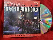 This Is Garth Brooks LaserDisc 1992 Concert Laser Disc LD Country Music Live