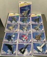 Lot of 13 Vintage Super Dyna-Flites Miniature Die-Cast Planes Zylmex 1993