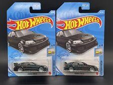 New ListingLot Of (2) Honda Civic Si Hot Wheels,Black,New For 2021,J Case,Hw Factory Fresh!