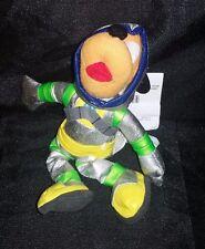 "Disney Spaceman Pluto Plush Bean 9"" Stuffed Mickeys Dog Astronaut Suit NEW"