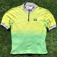 Rare Vtg 80s/90s Neon Yellow/Green Nike Short Sleeve Cycling Bike Jersey Shirt L