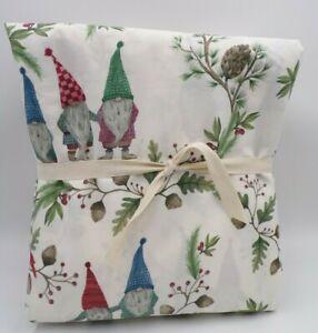 Pottery Barn Forest Gnome Organic Cotton Sheet Set Twin Twin XL White #7182F