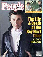 People Magazine January 20 1986 Ricky Nelson EX 060216jhe
