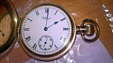 WALTHAM FULL HUNTER POCKET WATCH 1924 16s CLEANED AND SERVICED