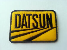 MOTORSPORTS MOTOR RACING CAR SEW / IRON ON PATCH:- DATSUN (b)