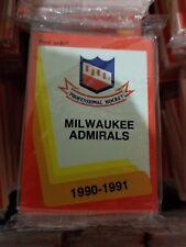 1990-91 Pro Cards IHL MILWAUKEE ADMIRALS Hockey Team Set Sealed