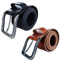 Leather Mens Belt Belts Real New Genuine Buckle Trouser Brown Black TOP BRAND