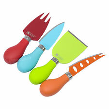 Set of 4 Modern Colourful Stainless Steel Cheese Knives For Dining Table Board