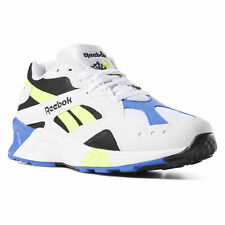 Reebok Aztrek Shoes for Men, Size 8.5 - White/Black/Crushed Cobalt/Solar Yellow