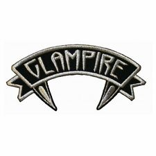 """""""Glampire"""" Name Tag Horror Fangs Kreepsville Embroidered Iron On Applique Patch"""