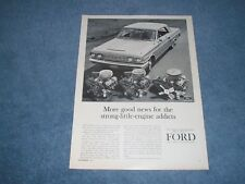 """1963 Ford Fairlane 289 271hp K-Code Ad """"More Good News for the Strong-Engine..."""""""