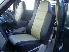 FORD F-250 F-350 2004-2009 IGGEE S.LEATHER CUSTOM FIT SEAT COVER 13COLORS