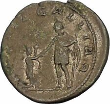GALLIENUS Restitutor of GALLIA 258AD Ancient Silver Roman Coin Cologne i53558