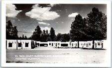 Ruidoso, New Mexico Rppc Photo Postcard El Taos Court Highway Roadside c1940s