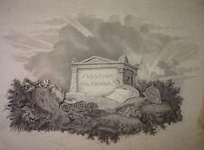 RARE DESSIN XIX ALLEGORIE Sebastiano del Piombo ROME ROMA VOYAGE GRAND TOUR 1820