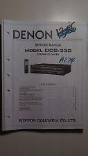 Denon dcg-330 service manual original book stereo compact cd disc player