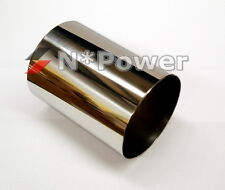 "3"" 76MM POLISHED STAINLESS STEEL 304 TUBE INTAKE PIPE TURBO 1.55MM WALL"