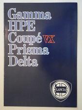 LANCIA RANGE orig 1983-84 UK Mkt Sales Brochure - Gamma HPE Coupe Prisma Delta