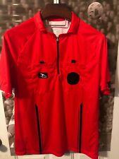 Score Play On Pro Soccer Official Referee Shirt Red Long & Short Sleeve Medium
