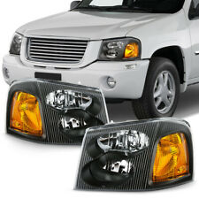 02-09 GMC Envoy XL XUV SUV Black Amber Replacement Headlight LEFT+RIGHT Assembly