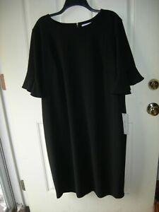 NWT!!  Calvin Klein 20W Black Dress